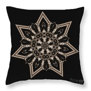 Mosaic Work Of Sepia Art  Throw Pillow