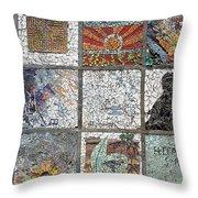 Mosaics Street At Birzeit Throw Pillow