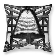 Moscow: Bell Tower, 1698 Throw Pillow