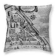 Moscow: Map, 17th Century Throw Pillow