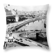 Moscow Russia - C 1902 Throw Pillow