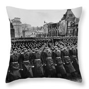 Moscow: Troop Review, 1957 Throw Pillow