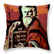 Moses And The 10 Commandments Throw Pillow