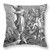 Moses And The Red Sea Throw Pillow