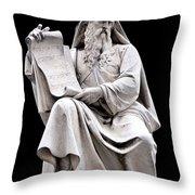 Moses Throw Pillow by Fabrizio Troiani