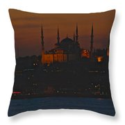 Mosque At Dusk Throw Pillow
