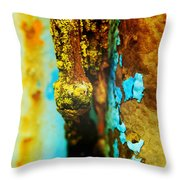 Moss And Rust II Throw Pillow