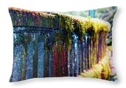 Moss Covered Bridge Throw Pillow