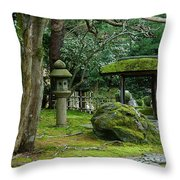 Moss Covered Garden Throw Pillow