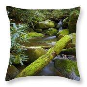 Moss Flourishing Throw Pillow
