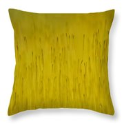 Moss In Yellow II Throw Pillow