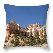 Mossy Cave Trail Throw Pillow