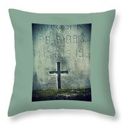 Mossy Tomb Throw Pillow