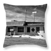 Motel Studios Bw Throw Pillow