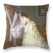 Mother And Baby Throw Pillow by Fritz Paulsen