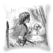 Mother And Child, 1873 Throw Pillow