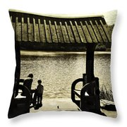 Mother And Child - Special Moment Throw Pillow