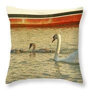 Mother And Two Throw Pillow