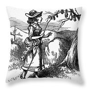 Mother Goose: Bo-peep Throw Pillow