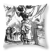 Mother Goose: Maid Throw Pillow
