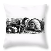 Mother Goose: Snail Throw Pillow by Granger
