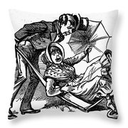 Mother Goose: Wife Throw Pillow by Granger
