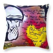Mother Theresa Fruits Throw Pillow