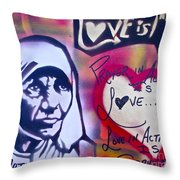 Mother Theresa Service Throw Pillow