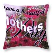 Mothers Day Pink Petunias Throw Pillow