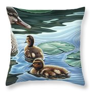 Mother's Watchful Eye Throw Pillow
