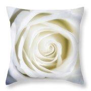 Mother's White Rose Throw Pillow