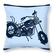 Motorbike 1a Throw Pillow by Mauro Celotti