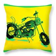 Motorbike 1b Throw Pillow by Mauro Celotti