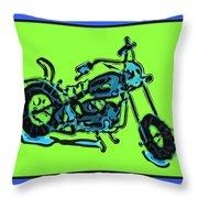 Motorbike 1c Throw Pillow