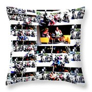 Motorbike Watching On Ubud Streets   Throw Pillow