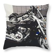 Motorcycle Ride - Five Throw Pillow