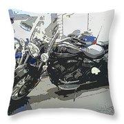Motorcycle Ride - Three Throw Pillow