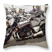 Motorcycle Rides - Five Throw Pillow