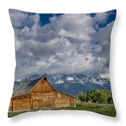 Moulton Barn Morning Throw Pillow