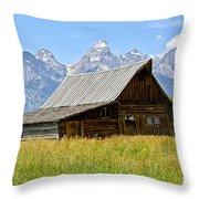 Moulton Barn On Mormon Row Throw Pillow