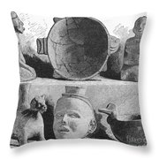 Mound Builders: Pottery Throw Pillow