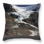 Mount Andromeda And Athabasca Glacier Throw Pillow