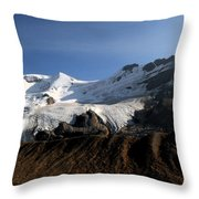 Mount Athabasca From The Columbia Icefields Throw Pillow