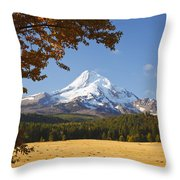 Mount Hood And Autumn Colours In Hood Throw Pillow