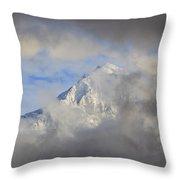 Mount Hood Through Storm Clouds Oregon Throw Pillow