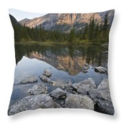 Mount Kidd, Kananaskis, Alberta, Canada Throw Pillow