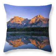 Mount Kidd, Wedge Pond, Kananaskis Throw Pillow