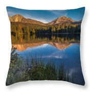 Mount Lassen Reflecting 2 Throw Pillow