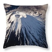 Mount Ngauruhoe Tongariro Np New Zealand Throw Pillow by Colin Monteath