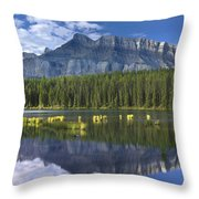 Mount Rundle And Boreal Forest  Throw Pillow